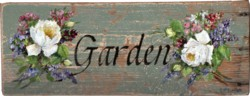 Garden sign - on rescued timber - Postage is included Australia wide