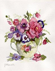 Water colour Original Pansies - sold