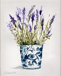 Water colour Original Lavenders  - Sold