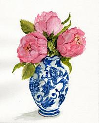 Water colour Original  - Pink Roses