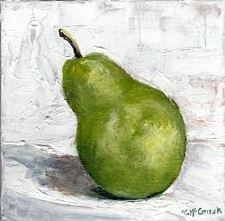 Ready to hang Print - The Pear (29 x 29cm) FREE POSTAGE Australia wide