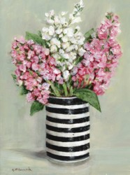 Original Painting on Canvas - Stocks in Black & White - 30 x 40cm