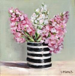 Original Painting on Canvas - Stocks in B & W  - 20 x 20cm series