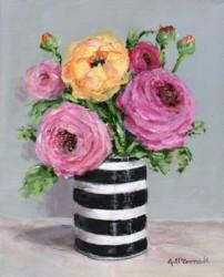 Original Painting on Canvas - Ranunculus - 20 x 25cm