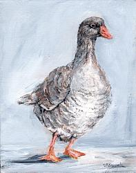 Original Painting on Canvas - The Goose - 20 x 25cm series