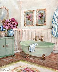 Original Painting on Canvas - The Bathroom - 20 x 25cm series