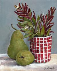 Original Painting on Canvas - Two Pears - 20 x 25cm series