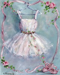 Ballet Dress & Roses - Postage is included Australia Wide