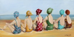 Ready to hang Print - Beauties at The Beach - FREE POSTAGE Australia wide