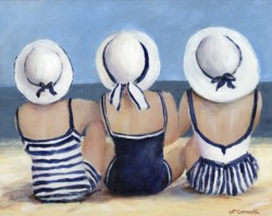 Blue & White at The Beach - Postage is included Australia Wide