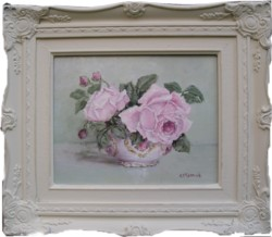 Original Painting - Blushing Roses - Postage is included Australia wide