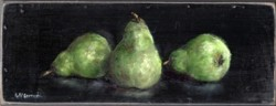 Original Painting on Panel - Trio of Pears - Postage is included Australia Wide
