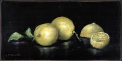 Original Painting on Panel - Lemons - Postage is included Australia Wide