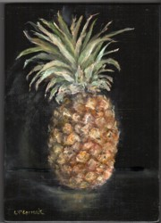 Original Painting on Panel - Pineapple - Postage is included Australia Wide