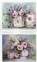 Fabric print - Vintage Tins - Postage is included World Wide