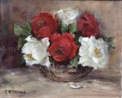 Original Painting on Linen - Vintage Roses - Postage is included Australia Wide