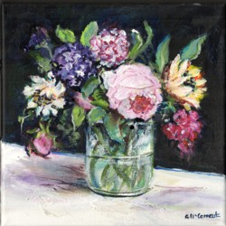 Original Painting on Canvas - Flowers - 20 x 20cm series