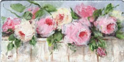 Miniature Painting Roses on a Bench - postage included Australia wide