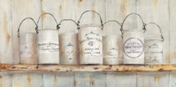 Ready to hang Print - French Tins - FREE POSTAGE Australia wide