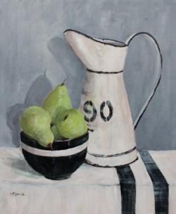 Original Painting on Panel - Pears under Enamel pot - Postage included Australia wide