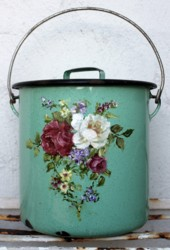 Vintage Tin with Flower Design - Postage is included Australia Wide