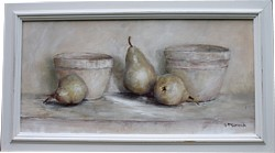 Original Painting - Rustic Bowls & Pears - Postage is included Australia Wide