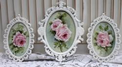 Trio of Original Paintings - Pink Rose Studies - Postage is included Australia Wide