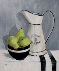 Original Painting on Panel - Pears under Enamel Jug - Postage included Australia wide