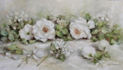 Original Painting on Ply Panel - Laying Whites - Postage is included Australia wide