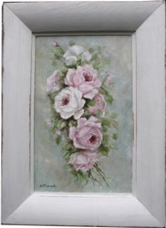 Original Painting - Old Fashioned Roses - Postage is included Australia Wide