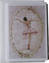 Gift Card-Single card - Ballerina - Free Postage Australia wide only