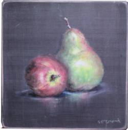 Ready to hang Print - Apple & Pear - FREE POSTAGE Australia wide