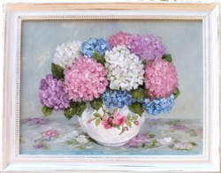 Original Painting - First of the Hydrangeas - Postage is included Australia Wide