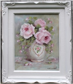 Original Painting - Rose Arrangement - Postage is included Australia Wide