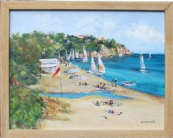 Original Painting - South Beach - Postage is included Australia Wide