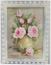 Original Painting in Ornate Italian frame (No. 1) - Postage is included Australia wide