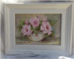 Original Painting in Ornate Frame (No. 1) - Postage is included Australia wide