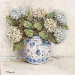 Original Painting on Canvas - Hydrangeas - Postage is included Australia Wide