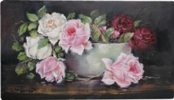 Original Painting on Panel - Assorted Roses still life study - Postage is included Australia Wide