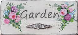 Garden, handpainted sign - Postage is included Australia wide