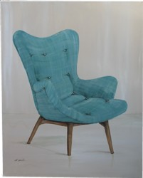 Original Painting - Retro Contour Chair