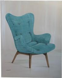 Original Painting - Retro Contour Chair