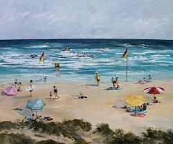 Original Painting on Panel - Portsea Back Beach - SOLD