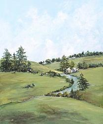 Original Painting on Panel - Escape to the Countryside - Postage included Australia wide