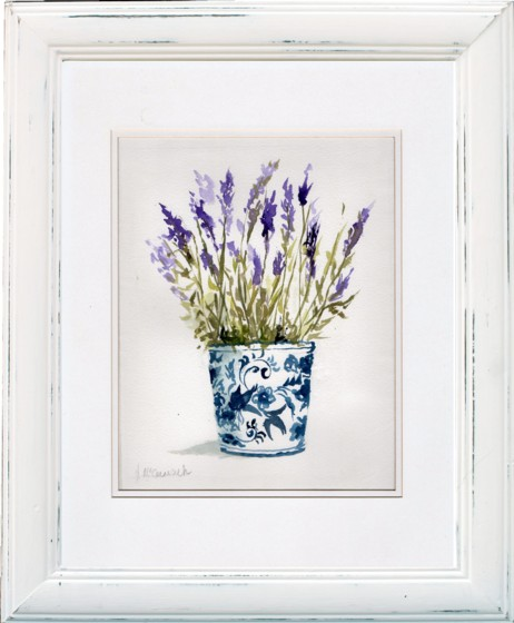 Lavenders in blue and white