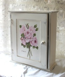 Hand Painted - Timber Cupboard - Postage is included Australia wide
