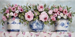 Original Painting on Panel - Variety of Pink Roses - Postage is included Australia Wide