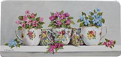 Tea Cup Collection - Original Painting - Postage is included Australia wide