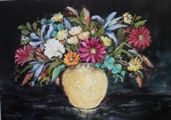 Original Painting on Panel - Celebration of Spring - Postage is included Australia Wide
