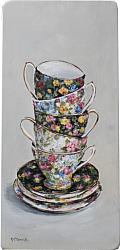 Stacked Chintz Tea Cups - Postage is included Australia wide